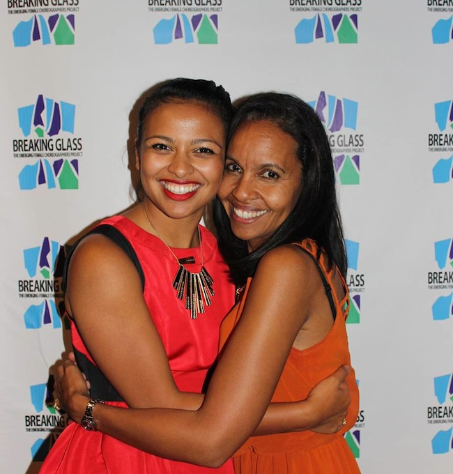 Co-founder of Breaking Glass Project Ellenore Scott and her Mother, Michelle Ramos-Burkhart, former ballerina and former president of Dance NYC