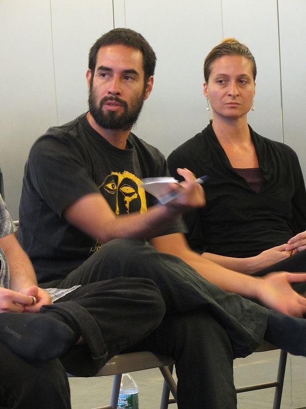 Left to right: Martin Lanz Landazuri (Mexico) and Iskra Sukarova (Macedonia). Photo (c)2013, Eva Yaa Asantewaa