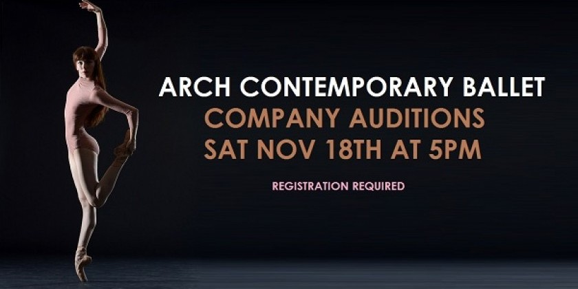 ARCH CONTEMPORARY BALLET SUMMER INTENSIVE AUDITION