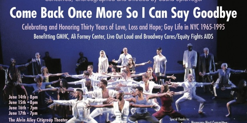 "Labyrinth Dance Theater presents ""Come Back Once More So I Can Say Goodbye"""