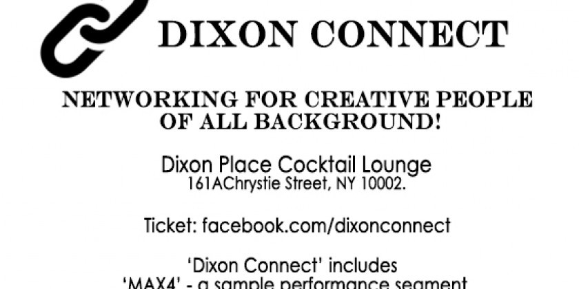 Dixon Connect/MAX4 – Networking event for all creative people – Aug 25, 2018