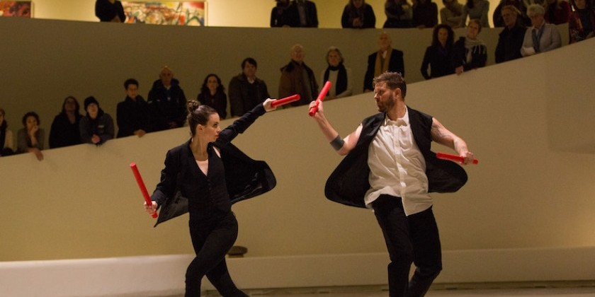 Impressions of: Michelle Dorrance with Nicholas Van Young in Works & Process Rotunda Project at the Guggenheim Museum