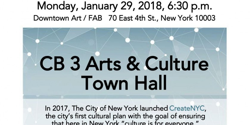 CB 3 Arts & Culture Town Hall