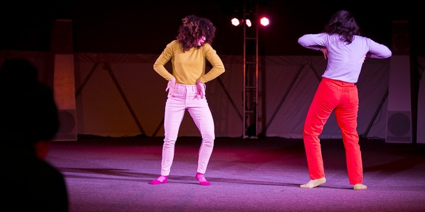 "The Dance Enthusiast Hits the Streets for Laurel Atwell and Jessica Cook's Open Studio of ""Tundra Body Baby"" at MoMA PS1"