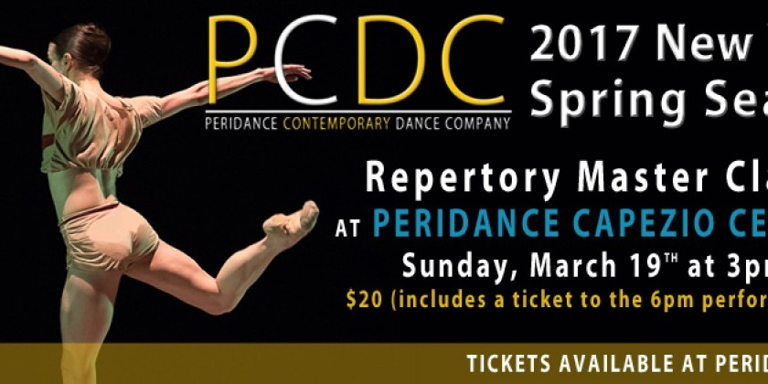 Repertory Master Class and Performance with Peridance Contemporary Dance Company
