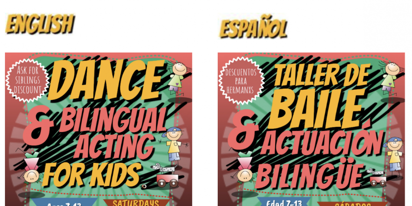 ENROLMENT OPEN: Bilingual Workshops for ALL at Thalia Spanish Theatre!