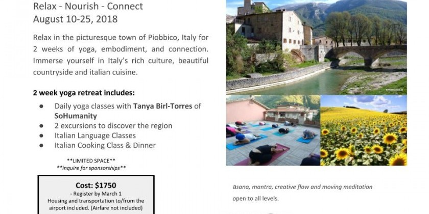 Amalgamate Dance Company's Yoga Retreat in ITALY