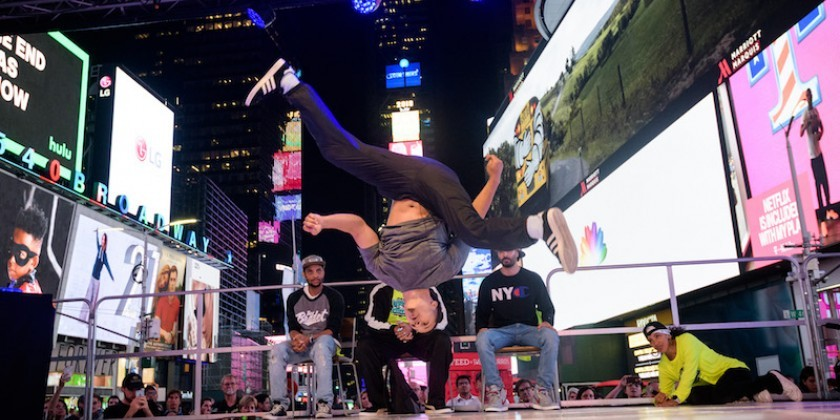 "IMPRESSIONS: Times Square Arts/Danspace Project Site-Specific Commissions with Laurie Berg, luciana achugar, Ana ""Rokafella"" Garcia and Gabriel ""Kwikstep"" Dionisio"