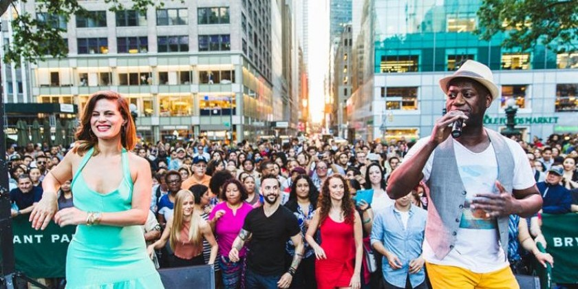 Dance News: Bryant Park Dance Party With Interactive Instruction & Live Music This May 1-June 7, 2019
