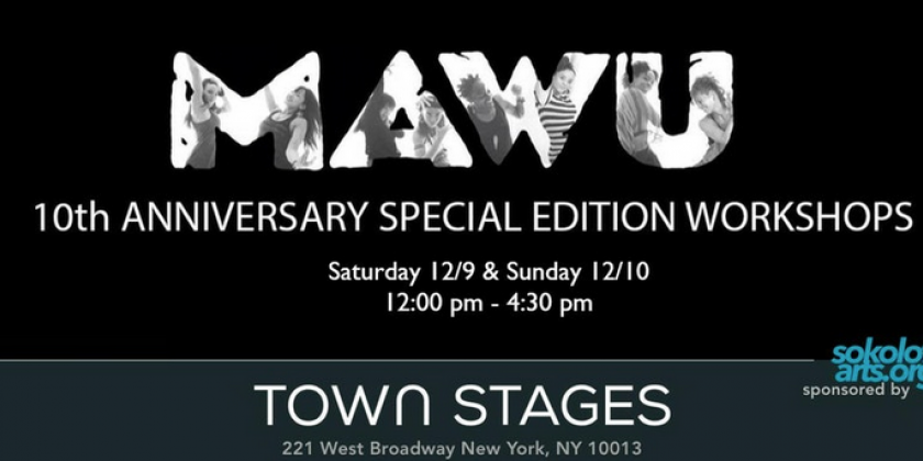 MAWU presents A Creative Movement Workshop Series