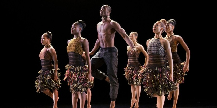 "Dance Up Close to Alvin Ailey American Dance Theater Rehearsing Aszure Barton's ""LIFT"""
