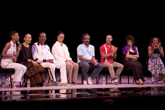 Alvin Ailey American Dance Theater  Alumns -( L to R) Ronnie Favors, Carmen de Lavallade, George Faison,  Donna Wood, Ralph Glenmore, Aubrey Lynch, Jackie Wolcott and Renee Robinson- Speak to the Audience After the 11am Performance.