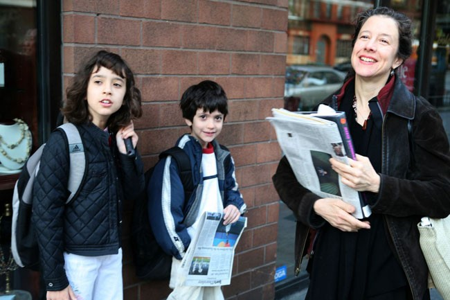 7:10 am-Starting The Day -Catherine Gallant and Her Kids On The Way to School and Work.