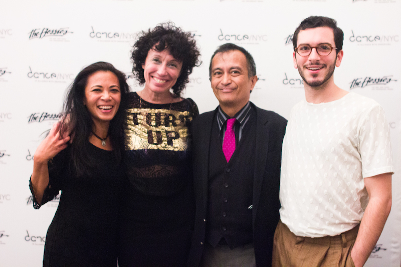 Sarah Michelson and Nicky Paraiso (center) with guests. Photo: AK47 Division