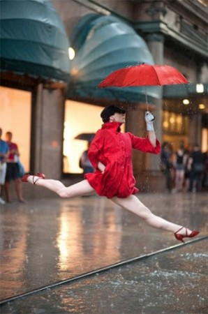 Annmaria Mazzini from Paul Taylor Dance Company- Outside Macy's