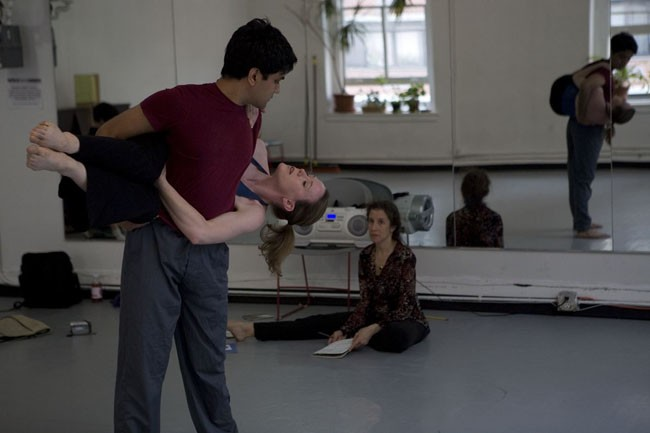 4:00 pm -Working on a Duet with dancers Chriselle Tidrick and Noah Damer