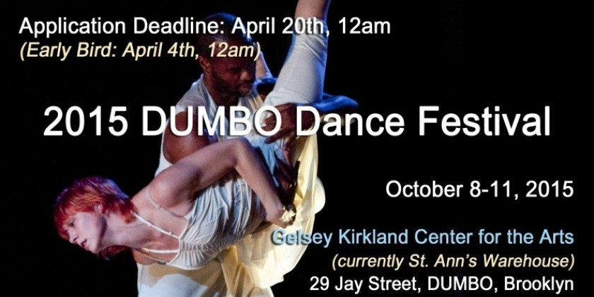 Submit Applications to 15th Annual DUMBO Dance Festival (DDF)