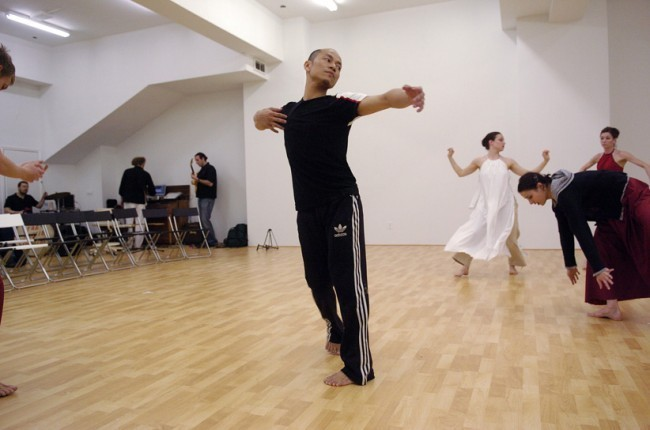 Kun Yang Lin/Dancers Prepare for The Official Opening  of Chi Movement Arts.
