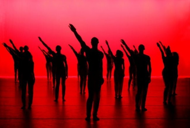 Alvin Ailey American Dance Theater in  'Hymn'  Photo by Nan Melville