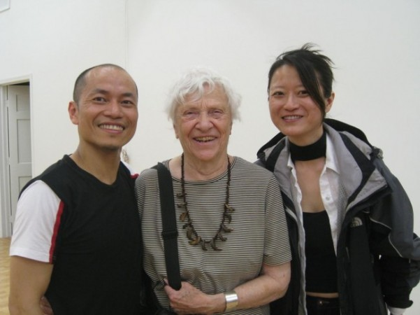 Lin with Ruth Grauert, former Alwin Nikolais Lighting Designer, and Catherine Tsung-Ying Lee, KYL/Dancers Lighting Designer