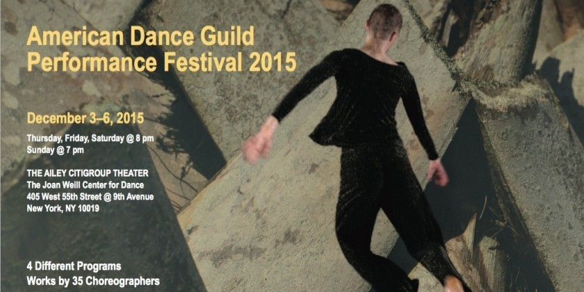 The American Dance Guild Performance Festival 2015