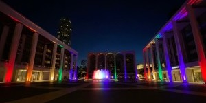 Lincoln Center Honors Pride with Light Installation on Iconic Plaza and Fountain