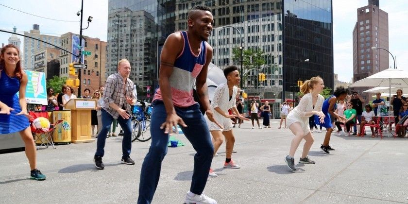 A POSTCARD From Tiffany Rea-Fisher Of Elisa Monte Dance (EMD) About Citi Summer Streets