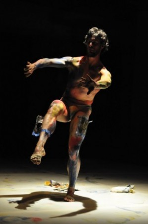 Foofwa d'Imobilite/Neopost Ahhrt in <u>Musings</u> at Dance New Amsterdam, NYC- Photos by Florence Baratay