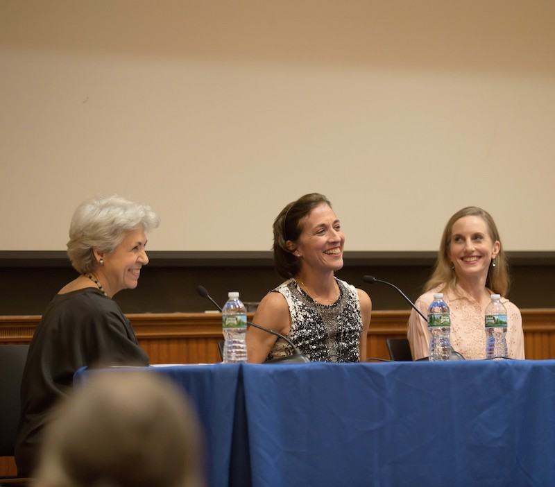 Lynn Garafola, Lourdes Lopez and Wendy Whalen sit at the panelist table