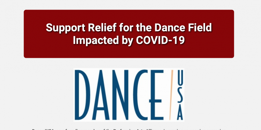 Latest News from Dance/USA  on COVID-19 Relief Options