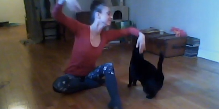 "SOCIAL DISTANCE DANCE VIDEO: ""Dance With Me"" a fun paw de deux by Albena Kervanbashsieva and Etoile"