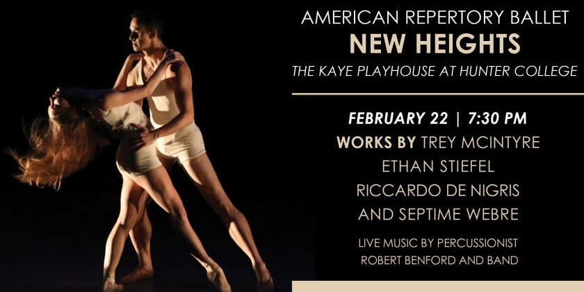 American Repertory Ballet presents Works by Trey McIntyre, Ethan Stiefel, Riccardo De Nigris and Septime Webre