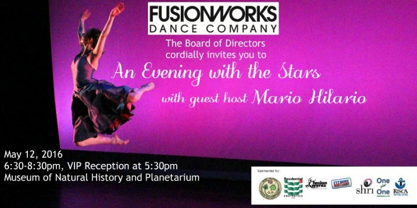 "PROVIDENCE RI: Fusionworks Dance Company presents ""An Evening With The Stars"""