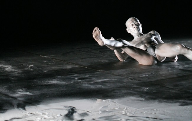 Quick Silver, Ko Murobushi at CAVE NY Butoh Festival, 2007  photo by Dola Baroni
