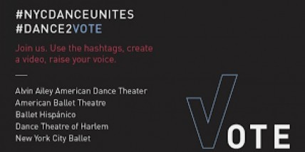 #NYCDANCEUNITES — Alvin Ailey American Dance Theater, American Ballet Theatre, Ballet Hispánico, Dance Theatre of Harlem, and New York City Ballet Join Forces to Lead the Dance Community with New Voting Initiative