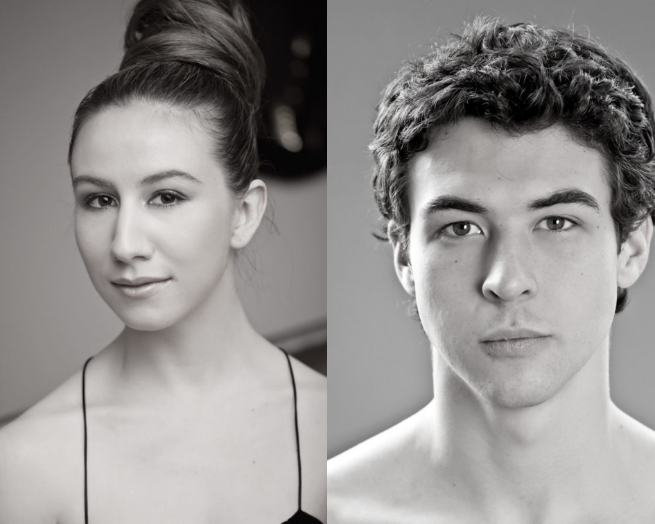 Black-and-white headshots of Isabella Boylston and Thomas Forster