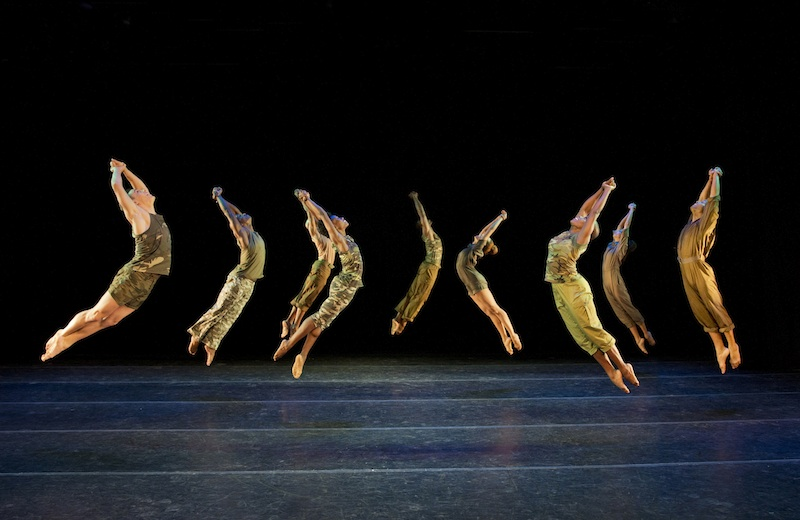 Alvin Ailey American Dance Theater in Bill T. Jones's D-Man in the Waters (Part 1).  Photo by Paul Kolnik