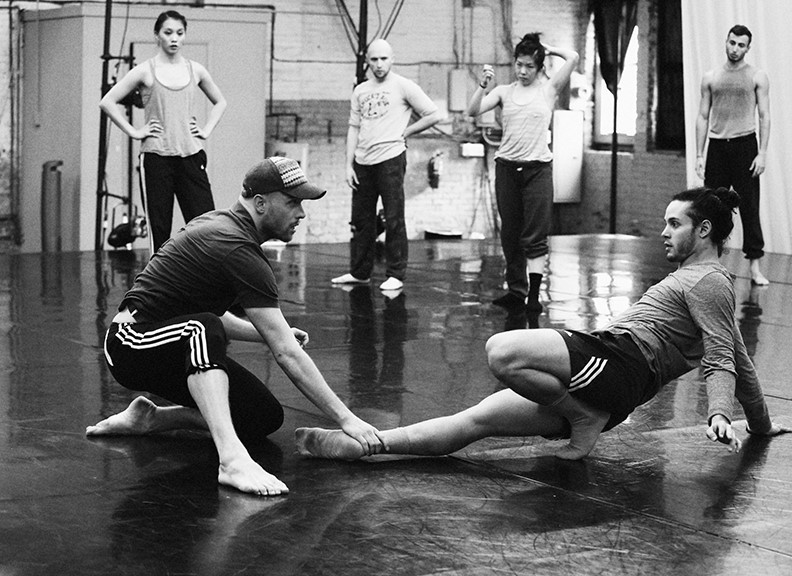 James Gregg with dancer Jesse Sani in rehearsal for Head in the Clouds. Photo: Bill Hebert.