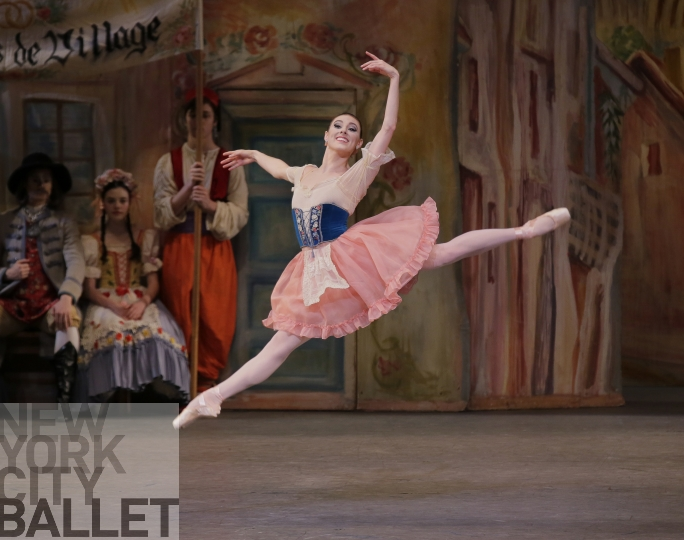 Tiler Peck performing with New York City Ballet