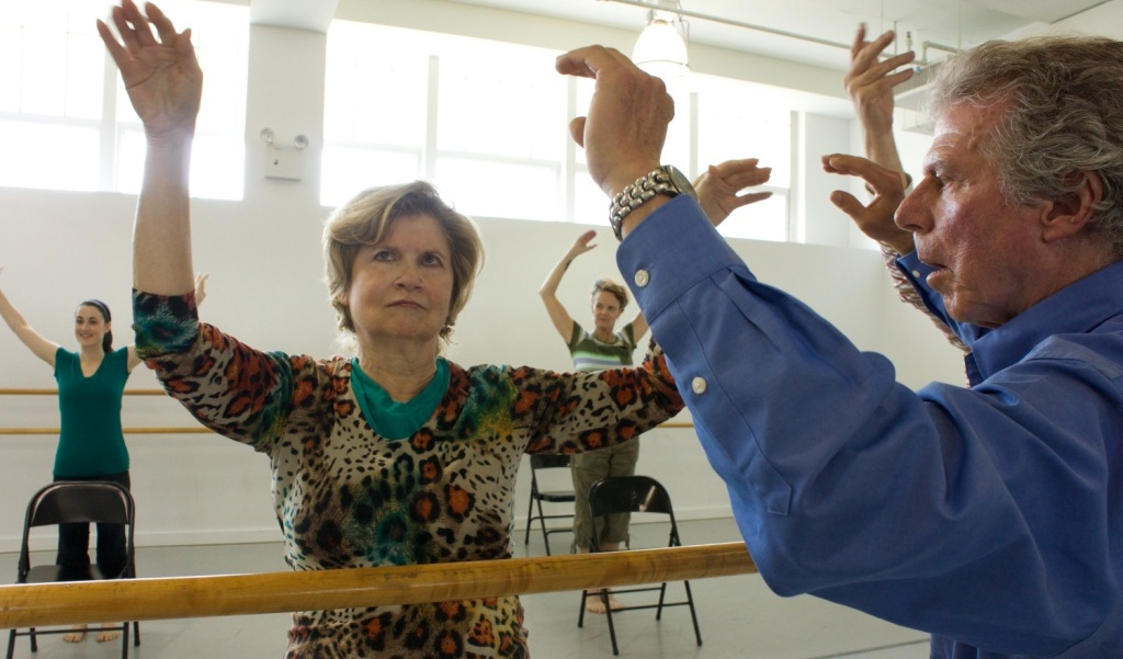 Participants, Marsha and Charlie, in the Dance for Parkinson's Disease class