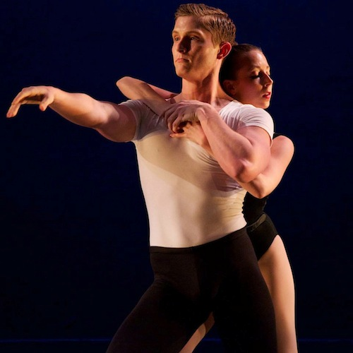 CBC dancers Caitlin Dieck and James Lasky perform during CBC's Spring 2013 season in The Four Temperaments, Choreography by George Balanchine AAAAAA© The George Balanchine Trust. Photo by Joseph Ritter
