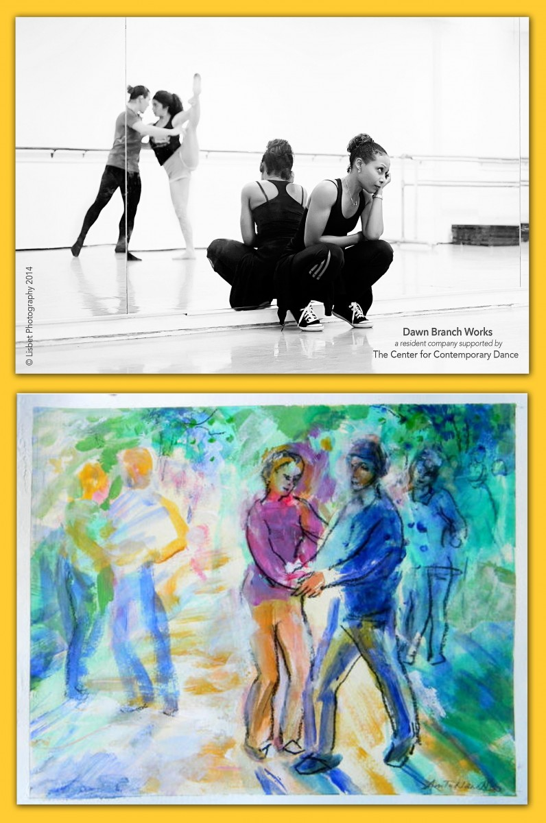 Dawn Branch Works in rehearsal. + The artwork that inspired her,
