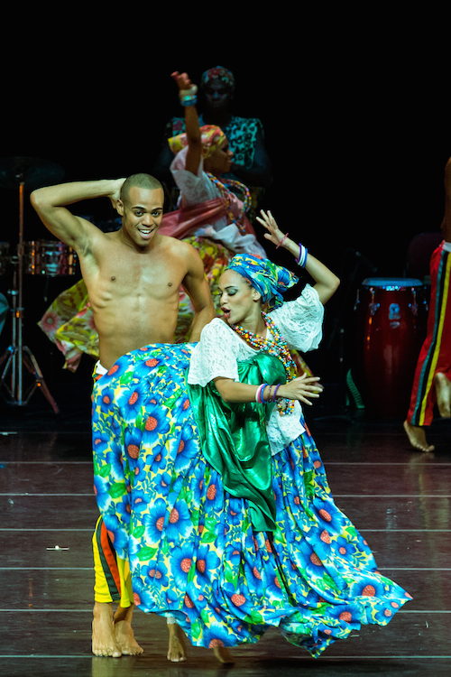 Bale Folclórico da Bahia, Photography by Wendell Wagner A colorfully adorned  couple dance together.
