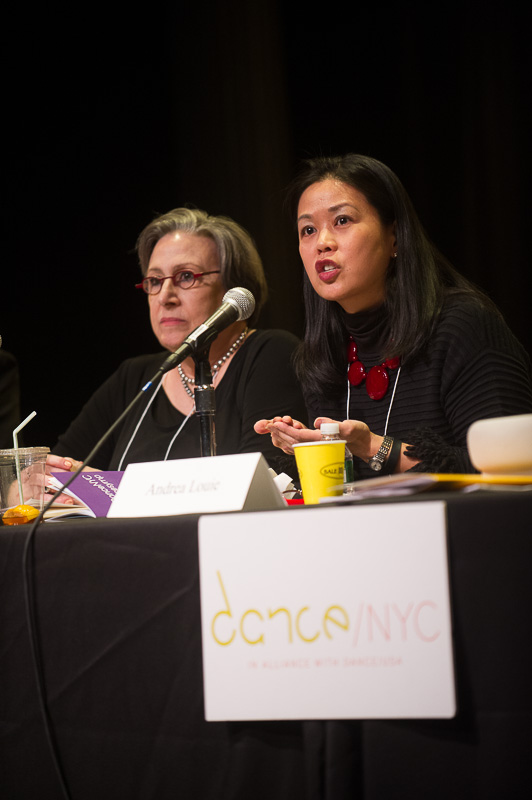 Andrea Louie, Executive Director, Asian American Arts Alliance speaking during the Dancing Towards Cultural Equity Panel