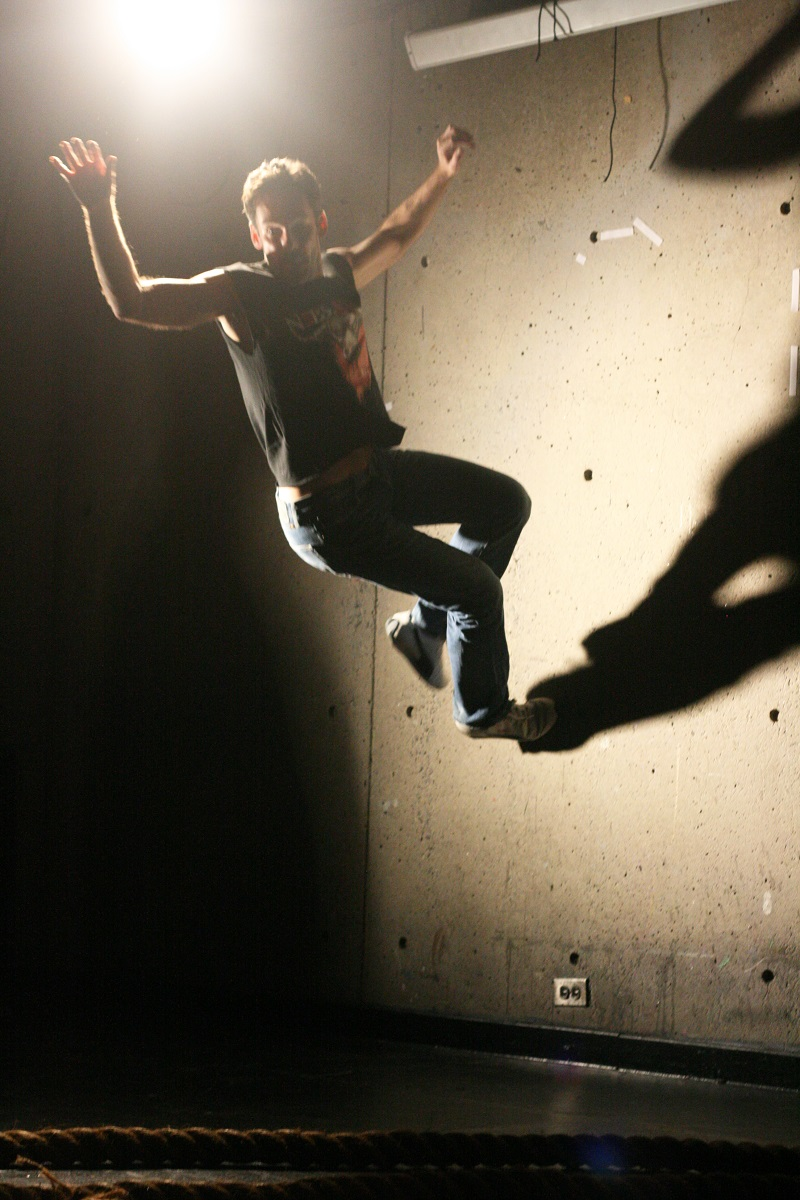 Matthew Hardy Jumping in Mark Dendy's Labyrinth Photo by  Marisa @RockPaper