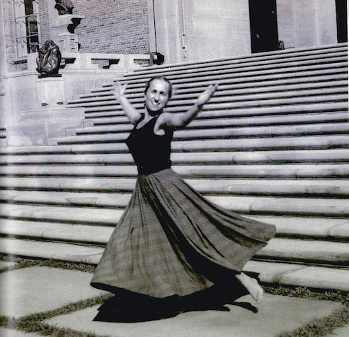 Harriet Berg dancing in her youth in Detroit