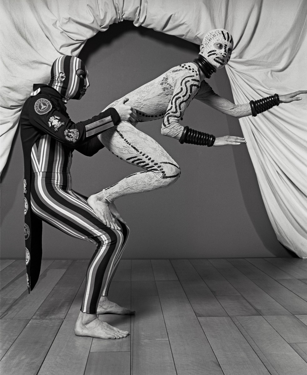 Costumes by Jean Paul Gaultier for FaAAAAAA§ade, un divertissement, choreography for eleven dancers by RAAAAAA©gine Chopinot, La Coursive, La Rochelle, 1993. Photograph AAAAAA© Eric Richmond.
