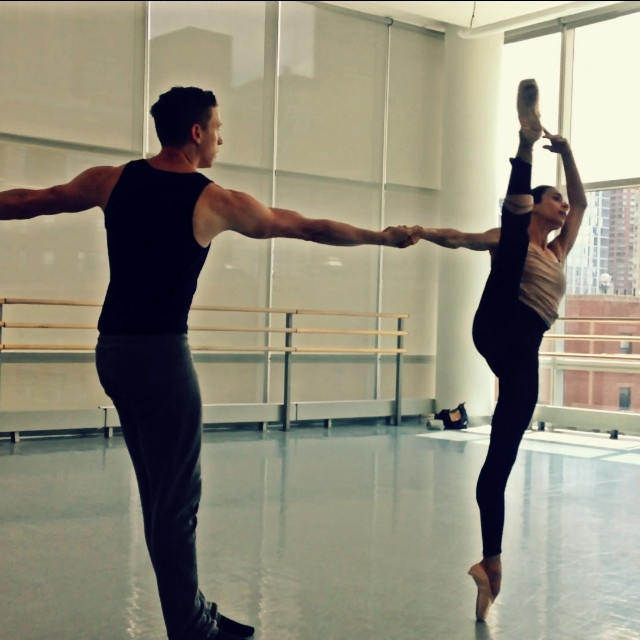 Rehearsal for Artemis. Pictured: Alessandra Ferri and Tobin Del Cuore, Courtesy of the Lar Lubovitch Dance Company