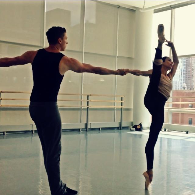 Rehearsal for Artemis. Pictured: Alessandra Ferri and Tobin Del Cuore, Courtesy of the Lar Lubovitch Dance Company