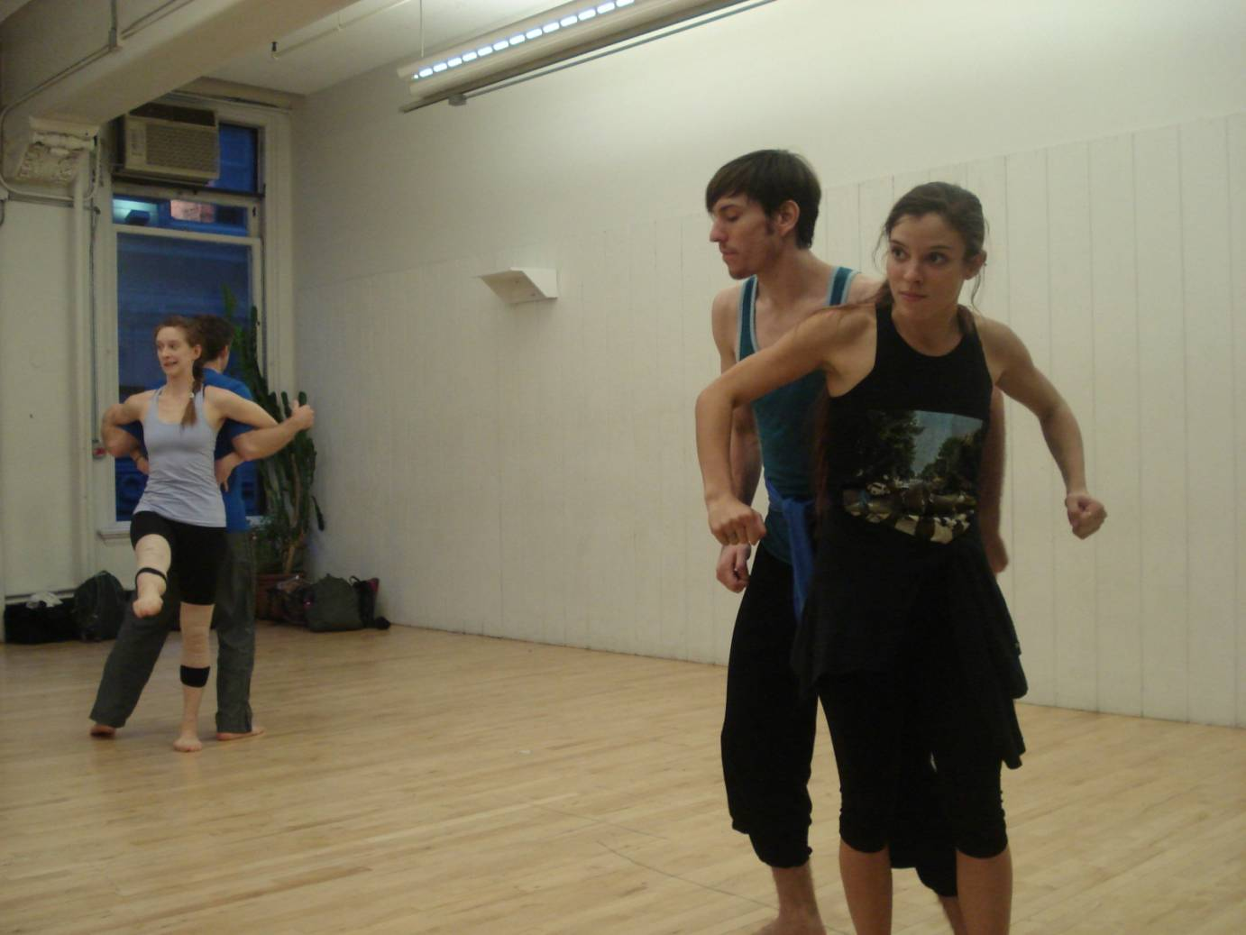 GroundWorks and Gibney Dance rehearsing Gina Gibney's Always